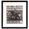 Lot # 133: Ben Urich's 'Harlem Terror' Framed Newspaper