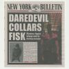 Lot # 140: 'Daredevil Collars Fisk' New York Bulletin Newspaper Cover