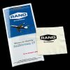 Lot # 664: Rand Enterprises Airline Safety Brochure and Rand Branded Napkin