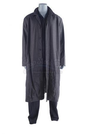 Lot #39 - Marvel's Agents of S.H.I.E.L.D. - Marcus 'Blackout' Daniels' Fridge Jumpsuit and Overcoat