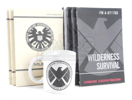 Lot #46 - Marvel's Agents of S.H.I.E.L.D. - John Garrett's S.H.I.E.L.D. Mug and Field Manuals