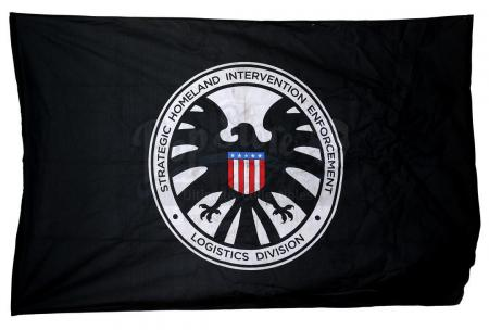 Lot #555 - Marvel's Agents of S.H.I.E.L.D. - Large 1970s S.H.I.E.L.D. Flag